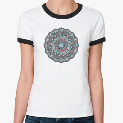 Женская футболка Ringer-T Этнический орнамент