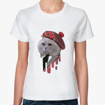 Классическая футболка кот шотландец