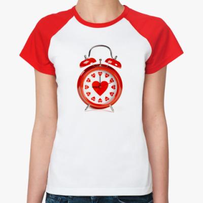 Женская футболка реглан Время любить