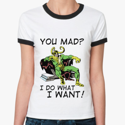 Женская футболка Ringer-T 'Loki'