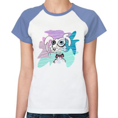 Женская футболка реглан Rabbit
