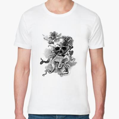 Футболка из органик-хлопка Череп-кальмар