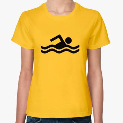 Женская футболка Футболка пловец