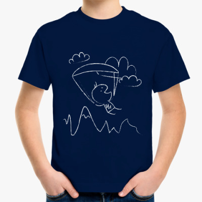 Детская футболка Kids paragliding