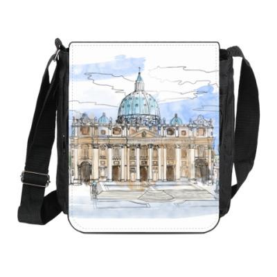 Сумка на плечо (мини-планшет) Ватикан - Собор Святого Петра