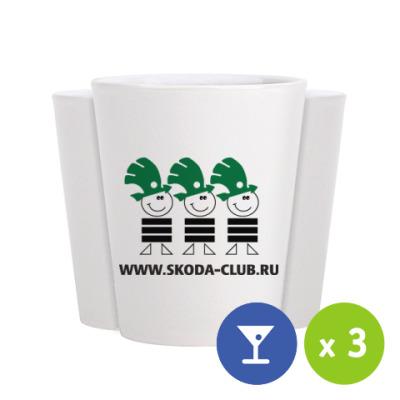 Стопка (щот)  Рюмки Skoda-Club (3 шт.)
