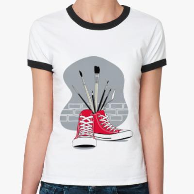 Женская футболка Ringer-T Street Art