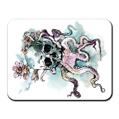 Коврик для мыши Череп-кальмар
