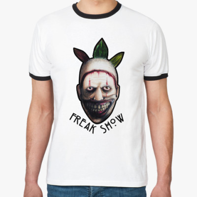 Футболка Ringer-T Freakshow horror clown
