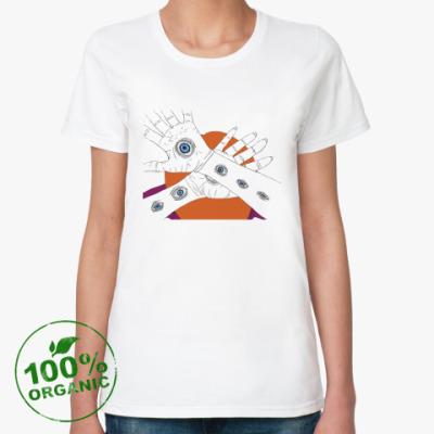 Женская футболка из органик-хлопка  Глаза