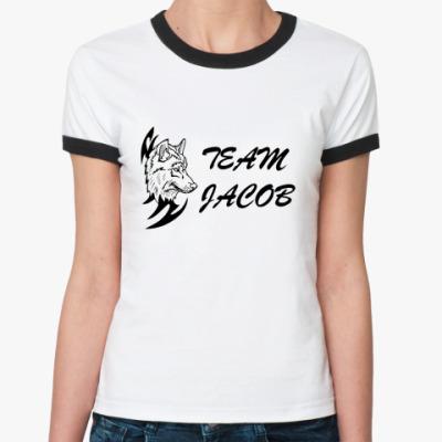 Женская футболка Ringer-T  Team Jacob