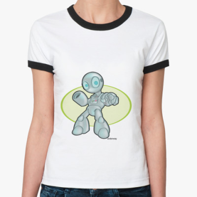 Женская футболка Ringer-T  Robot