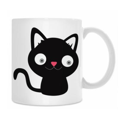 Кружка Дружелюбный котик