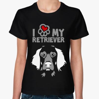 Женская футболка Я люблю моего пуделя
