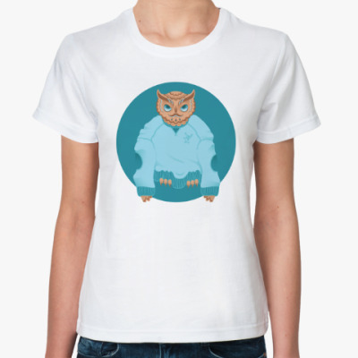Классическая футболка Animal Fashion: O is for Owl