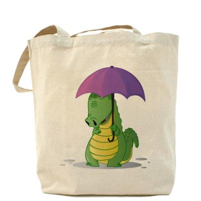Сумка Крокодильчик с зонтиком