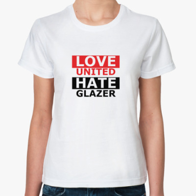 Классическая футболка Hate Love MU