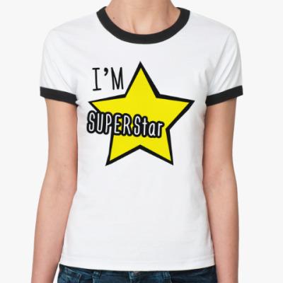 Женская футболка Ringer-T I'm Superstar