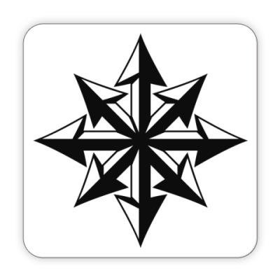 Костер (подставка под кружку) Хаос ч/б