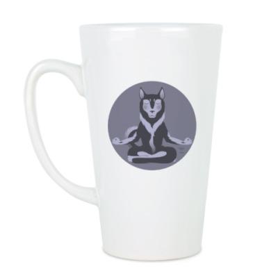 Чашка Латте Animal Zen: H is for Husky