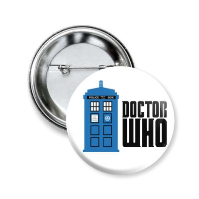 Значок 50мм Doctor Who
