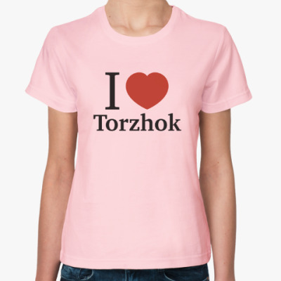 Женская футболка Я люблю Торжок