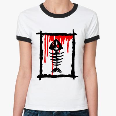 Женская футболка Ringer-T Bad fish