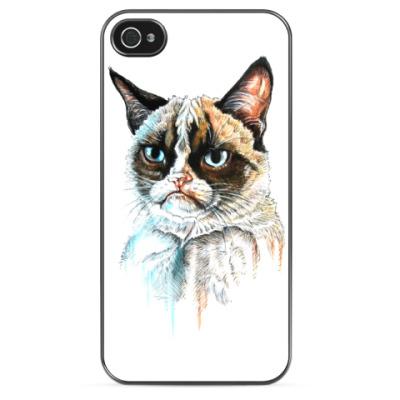 Чехол для iPhone Грустный кот