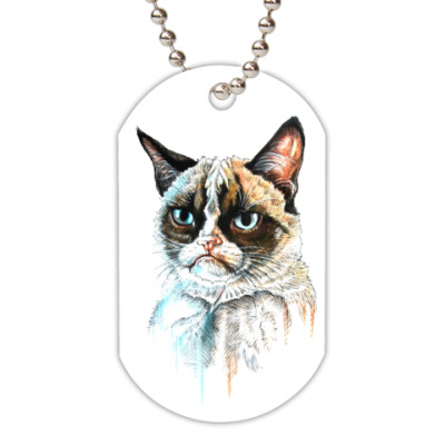 Жетон dog-tag Грустный кот