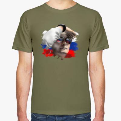 Футболка Путин смотрит в будущее