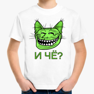 Детская футболка Trollface  Кото-тролль, troll