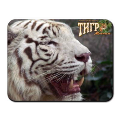 "Коврик для мыши  ""Белый тигр"""