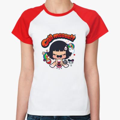 Женская футболка реглан Позвони мне!