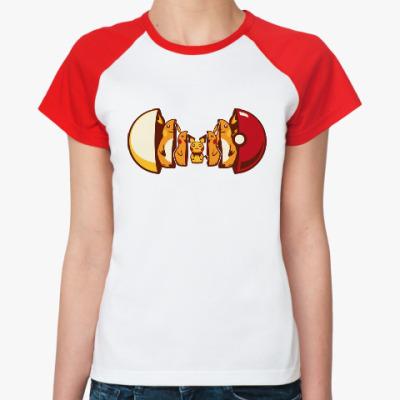 Женская футболка реглан Покетрешка