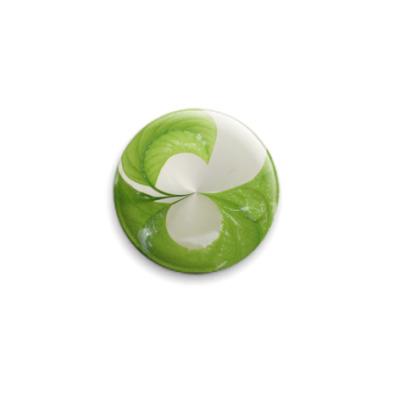 Значок 25мм Зеленый  25 мм
