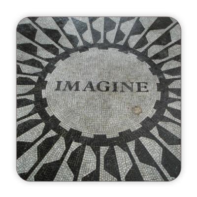 Костер (подставка под кружку) Imagine John Lennon