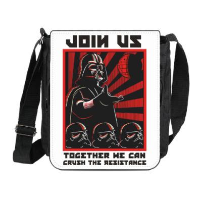 Сумка на плечо (мини-планшет) Присоединяйся