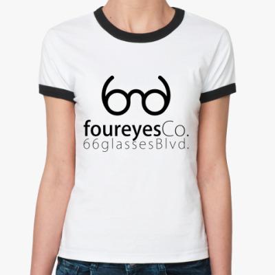 Женская футболка Ringer-T glasses