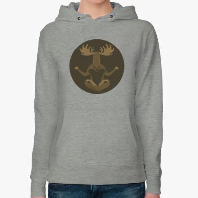 Женская толстовка худи Animal Zen: M is for Moose