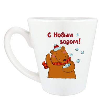 Чашка Латте Медведь