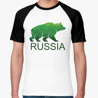 Футболка реглан Россия, Russia