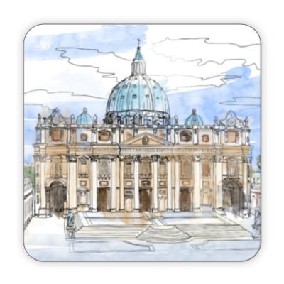 Костер (подставка под кружку) Ватикан - Собор Святого Петра