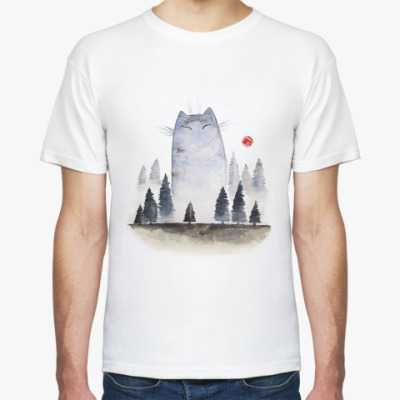 Футболка Туманный котик