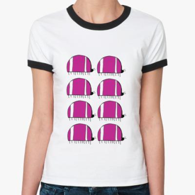 Женская футболка Ringer-T шесть жуков