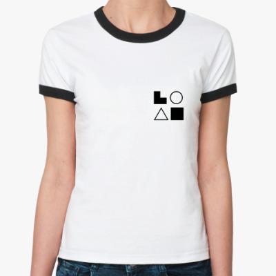 Женская футболка Ringer-T  ЭСЭ (Гюго)
