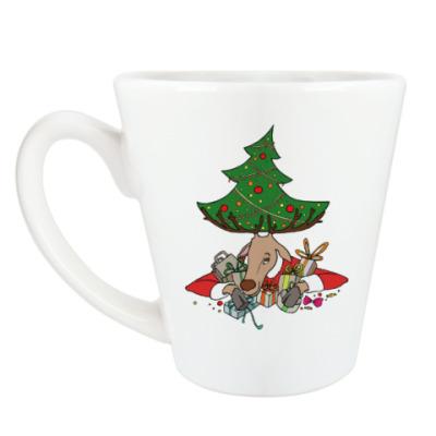 Чашка Латте Жадный олень
