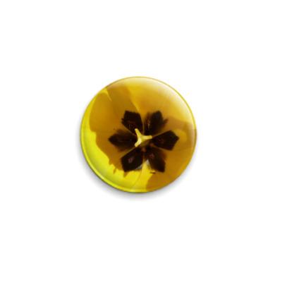 Значок 25мм Желтый тюльпан