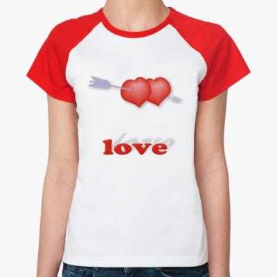Женская футболка реглан Дуплет