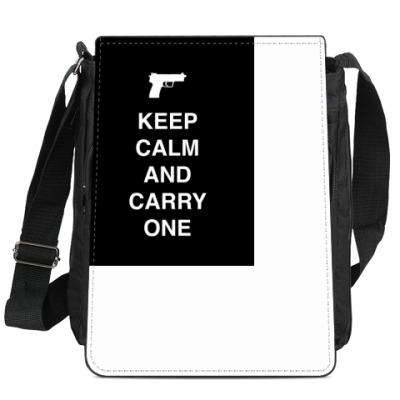 Сумка-планшет Keep calm and carry one