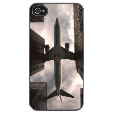 Чехол для iPhone Самолет над городом